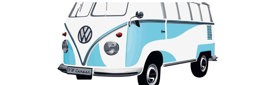 VW-T1mini niebiesko-biały